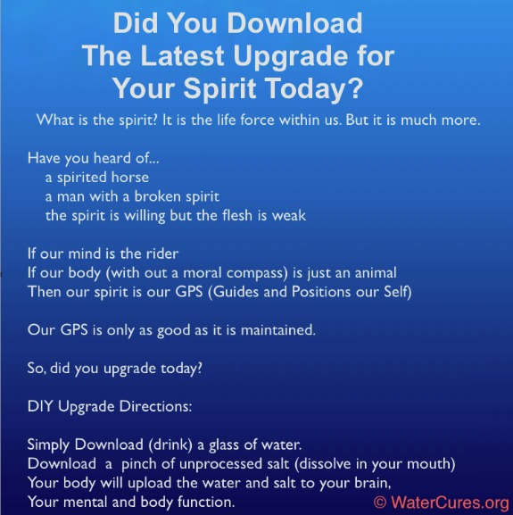 Upgrade Your Spirit: Download Info-graphic by WaterCures