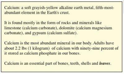 """""""Calcium"""